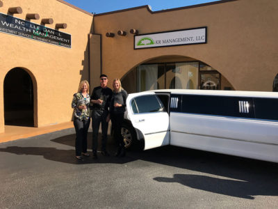 grand opening business transportation limo company