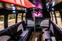 clearwater bachelor party transportation limo bus with dance pole