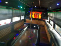 inside of tampa party bus for night on the town
