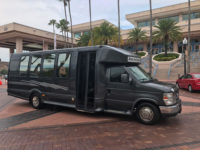 tampa airport to hotel transportation for wedding party in luxury shuttle bus