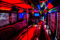 inside of soho tampa party bus rental